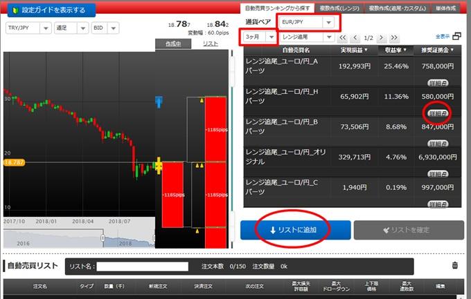 トライオートFX自動売買パネル設定方法